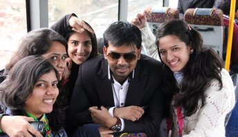 Sumit Saurabh with the PG Students